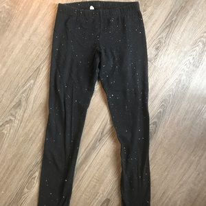 ***3 for $10*** size 7/8 black & sparkly leggings